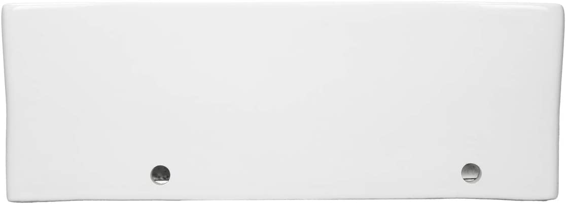 ECD Germany Lavabo sobre encimera Incl 350x205x125 mm Lavadero Blanco desag/üe con rebosadero La v/álvula de desag/üe Pop-up /¼ Lavamanos cer/ámico Dise/ño Angular de lat/ón Cromado