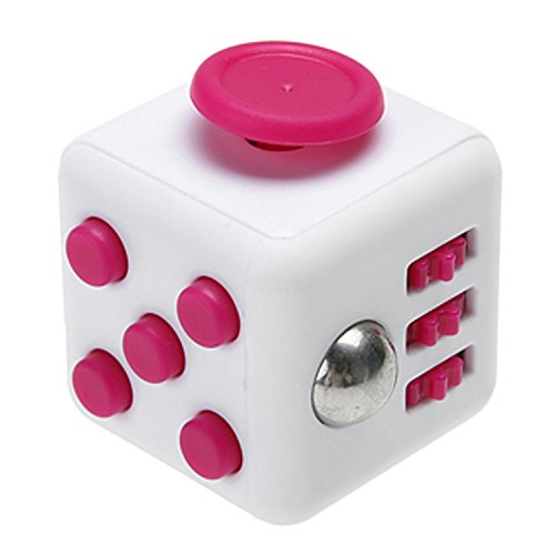 Fidget Box Relieves Stress And Anxiety for Children and Adults Anxiety Attention Toy (Pink, White)