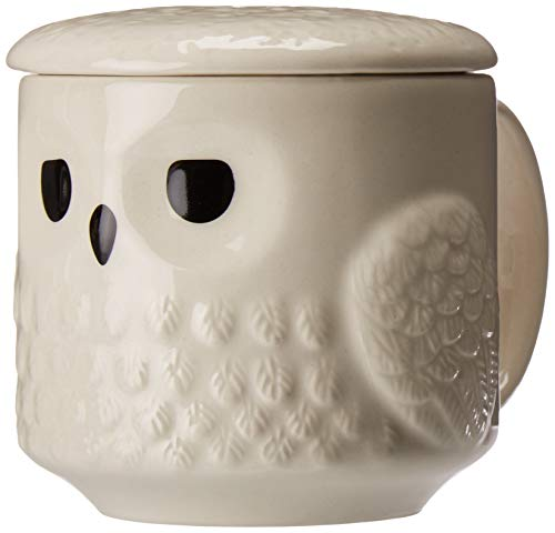 Hedwig Harry Potter Owl Snowy White 16 ounce Glossy Ceramic Mug With Lid