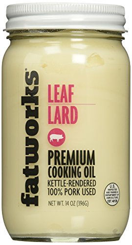 Pure Pork Leaf Lard, Free Range & Pasture Raised, 14oz (1 Jar)