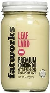 Pure Pork Leaf Lard, Free Range & Pasture Raised, 14oz (1 Jar)