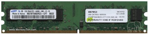 0 240-pin non-ECC unbuffered DIMM (p/n CCK) for HP, DELL, IBM, ACER, GATEWAY AND CUSTOM built machine by Gigaram (Pc2 6400 Cl5 240 Pin)