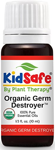 Plant Therapy Kidsafe Germ Destroyer Organic Synergy 10 mL (1/3 oz) 100% Pure, Undiluted, Therapeutic Grade ()