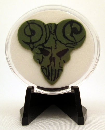 The Pick Of Destiny Dark Green Guitar Pick With Made In USA Display Case & - Stores Usa Destiny