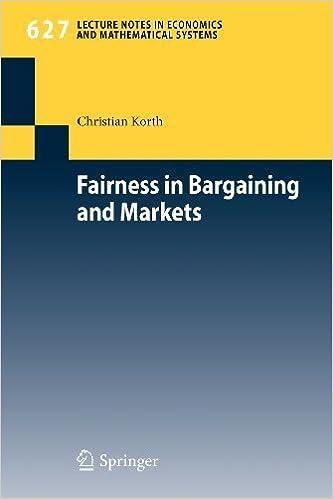 Book Fairness in Bargaining & Markets by Korth, Christian. (Springer,2009)