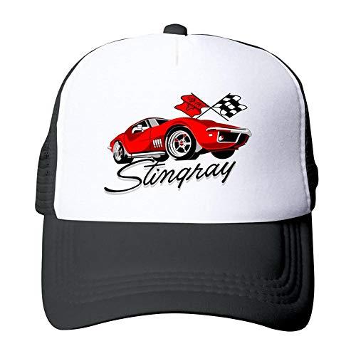 Stingray Basketball (Gujigur Adult Unisex Corvette Stingray Racing Printed Auto Sport Car Basketball Cap Snapback Hat)