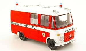 Mercedes L 408, bomberos Dortmund - ambulancia, Modelo de Auto, modello completo, Schuco 1:43