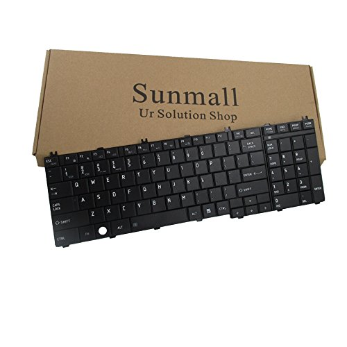 SUNMALL Laptop Replacement Keyboard for Toshiba Satellite Pro C650 C655 C650D C675D B350 T350 L650 L650D L655 L655D L670 L670D L675 L675D L750 L750D L755 L755D L770 L770D L775 L775D Series US Layout (Toshiba Satellite L650 Laptop)