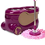 Rotating mop bucket deer skin automatically dehydrated drag free hand wash mop bucket mop home automatic water drag bucket barrel mop double drive stainless steel mop dry and wet separation,A