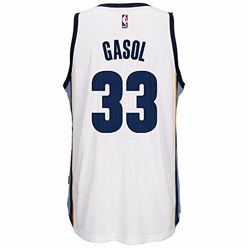 Amazon.com   Marc Gasol Memphis Grizzlies Adidas NBA Swingman Jersey -  White   Sports   Outdoors 6c191778b