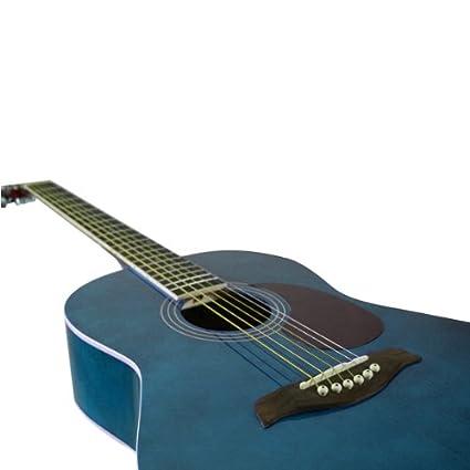 tiger acg2-bl pack de guitare acoustique – bleu