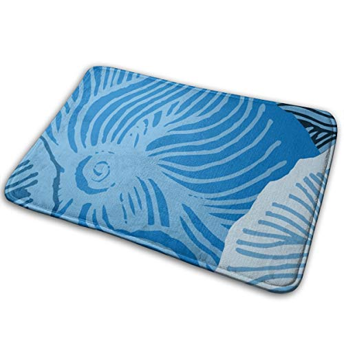 YANAIX Blue Cherry_1071 Bath Mat Non Slip Absorbent Super Cozy Bathroom Rug Decor Rug 15.7