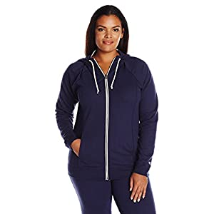 Champion Women's Plus-Size French Terry Full Zip Jacket, Navy El Heather, 3X