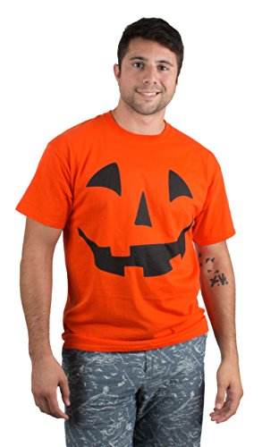 Giant Jack O' Lantern Face | Halloween Pumpkin Fun Unisex T-Shirt for Men Women,L Orange]()