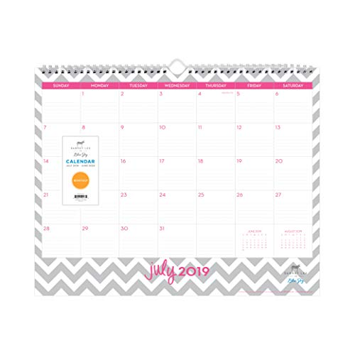 """Dabney Lee for Blue Sky 2019-2020 Academic Year Monthly Wall Calendar, Ruled Blocks, Twin Wire Binding, 15"""" x 12"""", Ollie"""
