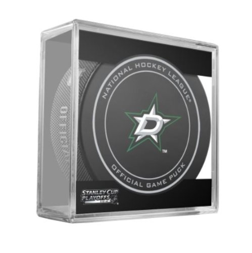 - 2014 NHL Stanley Cup Playoffs Dallas Stars Hockey Game Puck in Acrylic Cube