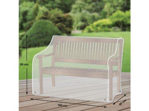 Premium Schutzhülle für Gartenbank/Landhausbank aus Polyester Oxford 600D - lichtgrau - von 'mehr Garten' - für 3-Sitzer Schutzhüllenprofi