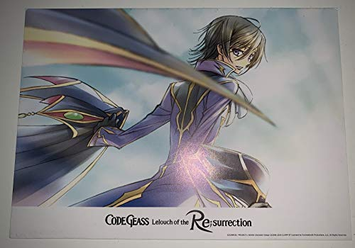 "Code Geass Lelouch of the Resurrection Original Movie Postcard 5""x7"" Anime 2019"