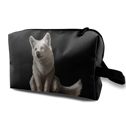 Portable Waterproof Travel Cosmetic Bag - Cute Wolf