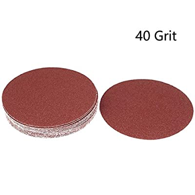 Rannb 7-Inch 40 Grit Hook and Loop Sanding Discs Sand Sheet 20pcs
