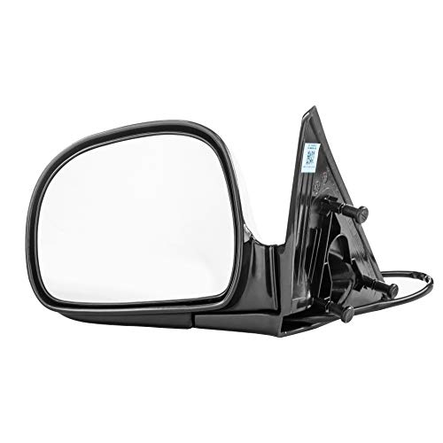Left Driver Side Mirror Assembly Unpainted for Chevrolet Blazer S10 GMC Jimmy Sonoma Isuzu Hombre Oldsmobile Bravada (1994 1995 1996 1997) ()