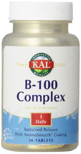 Tablet 100 Mg 30ct - KAL B-100 Complex SR Tablets, 100 mg, 30 Count by Kal