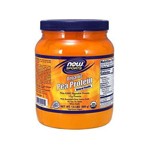 , Organic Pea Protein Powder, Natural Vanilla, 1.5-Pound ()
