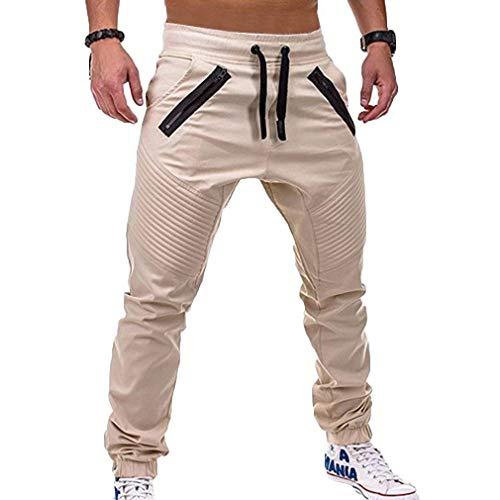 Lanceyy Cordones Pantalones Bolsillos Trabajo Casuales Cordón Para Hombres Libre Estilo Colour c5 Simple Aire Con De Al rr1R7qx