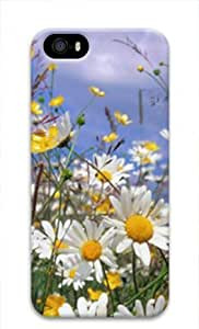 E-luckiycase PC Hard Shell Flower 3 for Iphone 5 5s 3D Case