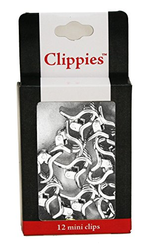 UPC 811491030014, Mia Clippies-Small Size Jaw Clamps-Silver Color Electroplated Plastic (12 pieces per package)