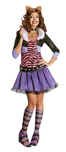 [Rubies Womens Halloween Costume Monster High Clawdeen Wolf Party Fancy Dress, S (4-6)] (Clawdeen Wolf Costumes With Wig)