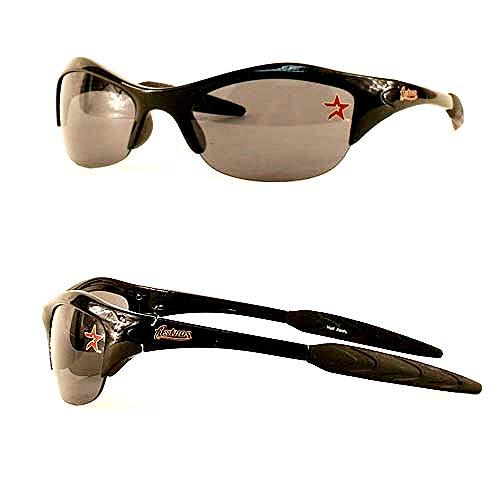 siskiyousport Houston Astros MLB Rimless Blade Frame Black UV Sunglasses Adult Men