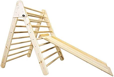 Wooden Foldable Triangle with Climbing Ladder