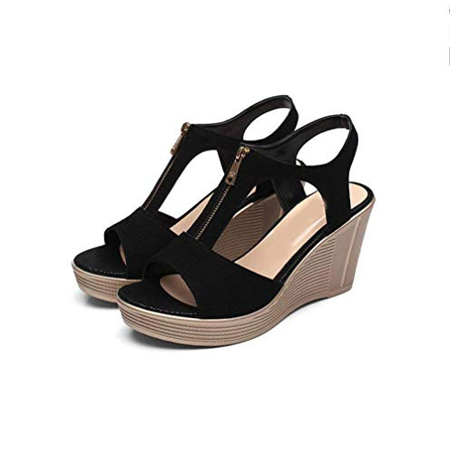 colore Wild Dimensione Col New Eu Velcro Shake La Da Con Tacco Di Alto Scarpe Summer Piccola Shoes Suola Donna 40 Nero Spessa 33 Taglia Sandali FqwRCzBF