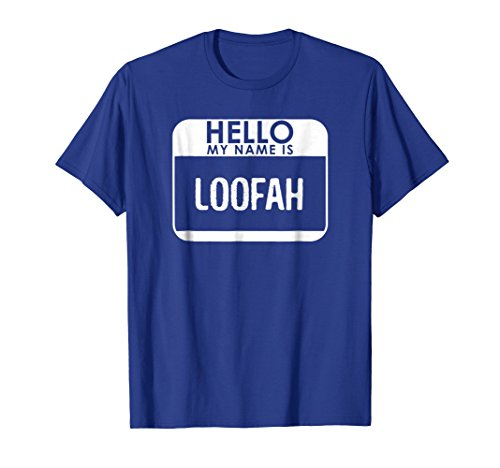Loofah Costume Shirt Funny Easy Halloween Couple Outfit Set ()