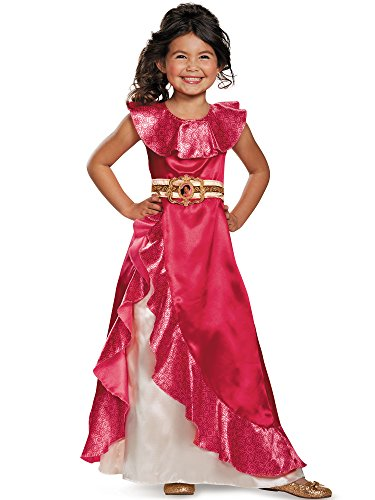 Costume Supercenter Returns (Elena Adventure Dress Classic Elena of Avalor Disney Costume, Small/4-6X)
