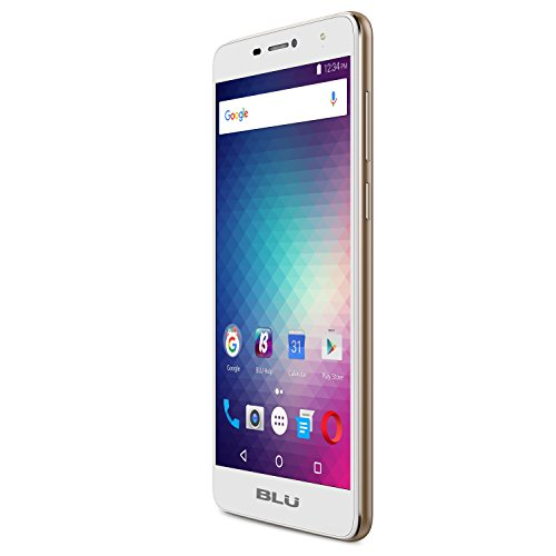 BLU Studio XL 2 –  6.0″ 4G LTE GSM Unlocked Smartphone – 4,900mAh Battery -Gold