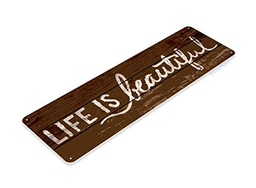 Tinworld Tin Sign Life is Beautiful Rustic Kitchen Cottage Cabin Farm Lake Beach House Cave B776