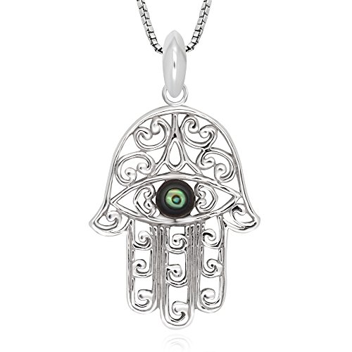 Sterling Silver Abalone Pendant Necklace product image