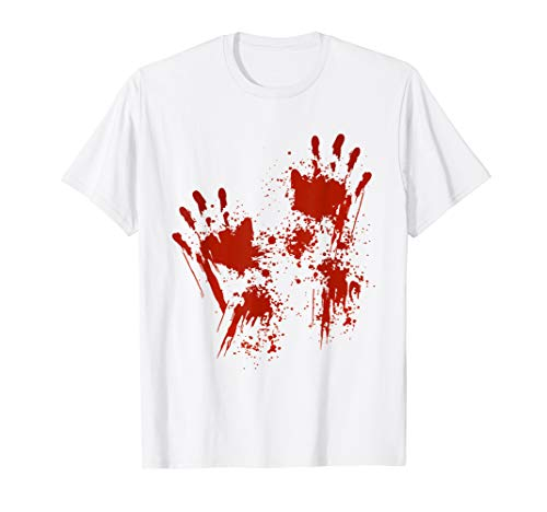 Halloween T-Shirt Blood Hands Costume Zombie Outfit
