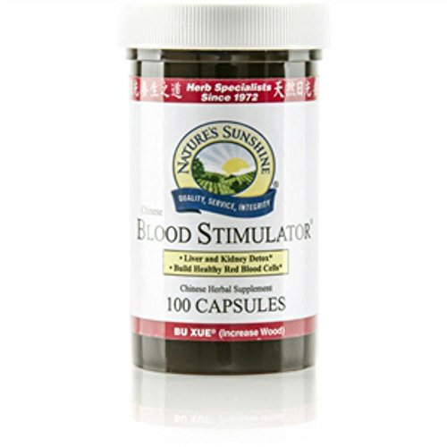 Nature's Sunshine Blood Stimulator, Chinese Chinese Dietary Food 100 Capsules Each(pack of 2)