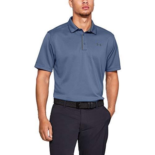 Under Armour Men's Tech Golf Polo Shirt, Thunder (407)/Pitch Gray, Small