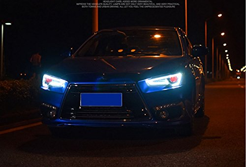 GOWE Car Styling Head Lamp for LANCER Headlights LED Headlight ANGEL EYES BEAM DRL Bi-Xenon Lens HID Automobile Accessories Color Temperature:5000K Wattage:35W 1