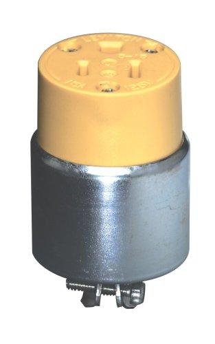 Leviton 515CA 15-Amp. 125-Volt, Armored Grounding (Armored Grounding Plug)