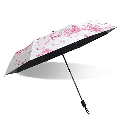 - Z.L.FFLZ Umbrellas Outdoor Sun Umbrella for Women UV Protection Parasol Unbreakable Indestructible Lightweight Gumshoe Handle Durable (Color : 02Flower)