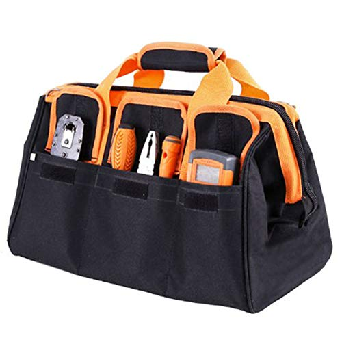 17-inch Multifunctional Large Capacity Oxford Cloth Toolkit for Plumber Electrician One-shouldered Dual-use Bag