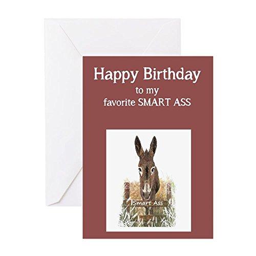 CafePress Happy Birthday Smart Ass Funny Donkey Greeting Car Greeting Card, Note Card, Birthday Card, Blank Inside Matte ()