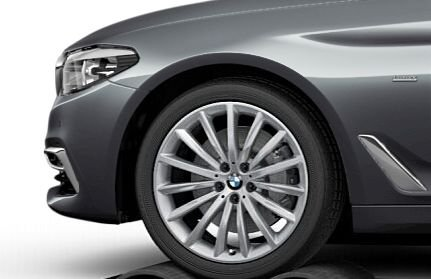 Original BMW 5 G30 Limo Invierno Completo juego de ruedas mucho radios 633 19 Tapicería