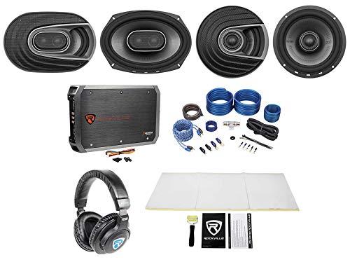 "2 Polk Audio MM692 6x9+MM652 6.5"" Car Speakers+Amp+Wire Kit+"