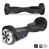 CHO Electric Smart Self Balancing Scooter Hoverboard Built-in LED Lights- UL2272 Certified (Black)